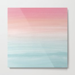 Touching Watercolor Abstract Beach Dream #1 #painting #decor #art #society6 Metal Print
