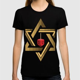 Star Of David Jewish Dreidel T-shirt