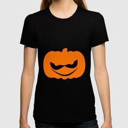 Evil Halloween Pumpkin Silhouette T-shirt