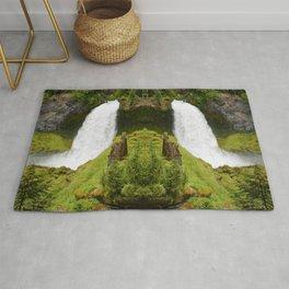 Sahalie Falls Oregon Rug