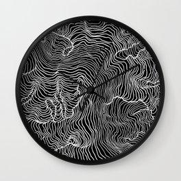 Black Riptide Wall Clock