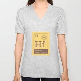 Periodic Elements - 72 Hafnium (Hf) Unisex V-Neck