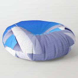 Sepulveda Dam on blue Floor Pillow