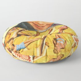 Girls on toast Floor Pillow