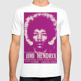 1969 Jimi Hendrix Concert Handbill Poster, Will Rogers Colosseum, Ft. Worth, Texas T-shirt