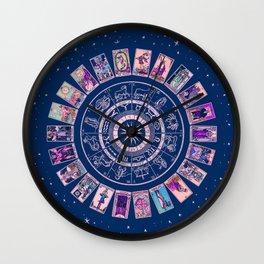 Major Arcana & Wheel of the Zodiac | Pastel Goth Wall Clock
