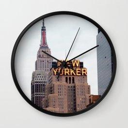 new york city, the new yorker Wall Clock