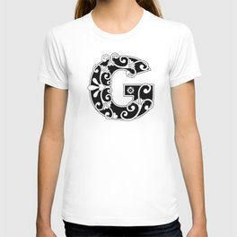 Letter G Elegant Scroll Initial T-shirt