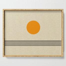 Sunrise Minimalist Art Serving Tray