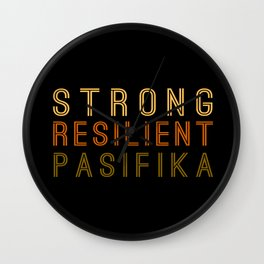 Strong Resilient Pasifika Wall Clock