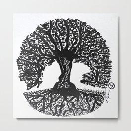 """Tree of Harmony"" Hand-Drawn by Dark Mountain Arts Metal Print"