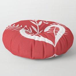 Kiwi red Pohutukawa aroha Floor Pillow