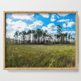 Cypress Trees and Blue Skies Serving Tray