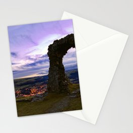 Town on the edge of forever Stationery Cards