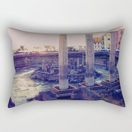 Roman Temple in Pozzuoli, Bay of Naples, Italy Rectangular Pillow
