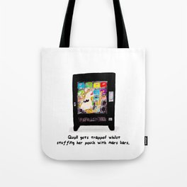 Quoll gets Trapped Tote Bag