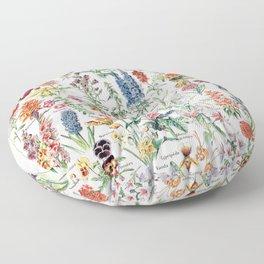 Adolphe Millot - Fleurs pour tous - French vintage poster Floor Pillow