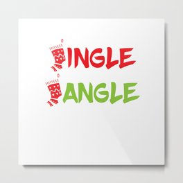 Christmas Jingle Jungle Sticker - Xmas Gift Metal Print