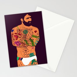 The artist - natural Stationery Cards