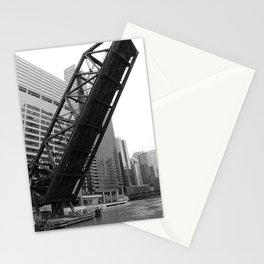 Kinzie Street Bridge - Black & White Stationery Cards