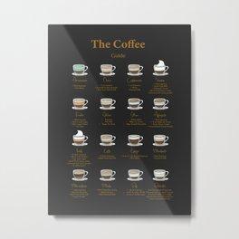 Coffee Essential Guide Metal Print
