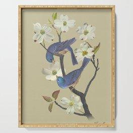 Bluebirds in Dogwood Tree Serving Tray