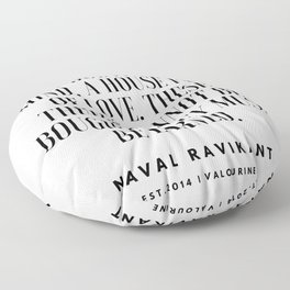 1   |Naval Ravikant Quotes Series  | 190618 Floor Pillow