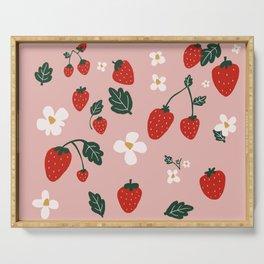 Strawberry Fields Serving Tray