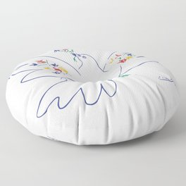 Picasso - Anti War - Dove of Peace Floor Pillow