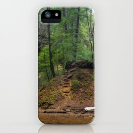 Images USA Hocking Hills Ohio Crag Nature Waterfalls Parks forest Rock Cliff park Forests iPhone Case