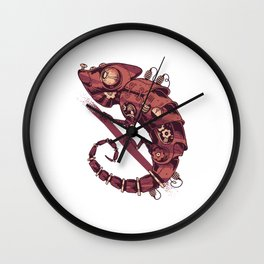 Chameleon Steampunk Pets Reptiles Animal Gift  Wall Clock