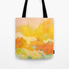 abstract spring sun Tote Bag
