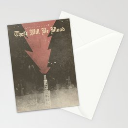 There will be blood, alternative movie poster, Daniel Day Lewis, Paul Thomas Anderson, Paul Dano Stationery Cards