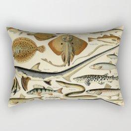 Fish Chart Rectangular Pillow