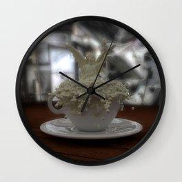 Literal Latte Art Wall Clock