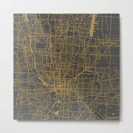 Columbus map Metal Print