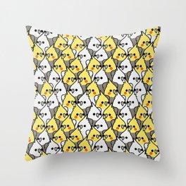 Too Many Birds! - lovebrd Throw Pillow