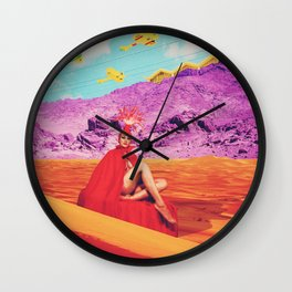 they found the lost lady in red, oracle of the sands Wall Clock