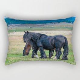 Gypsy Vanner Horses 0258 - Colorado Rectangular Pillow