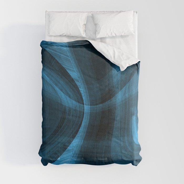 Bluish Black Hole Comforters