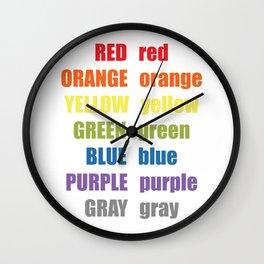 Colors 2020 Kids Room Decor Wall Clock