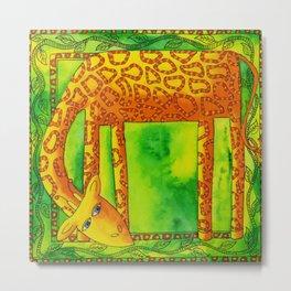 Patterned Giraffe Metal Print