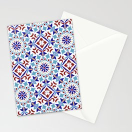Moroccan Mosaic Tile Pattern Stationery Cards