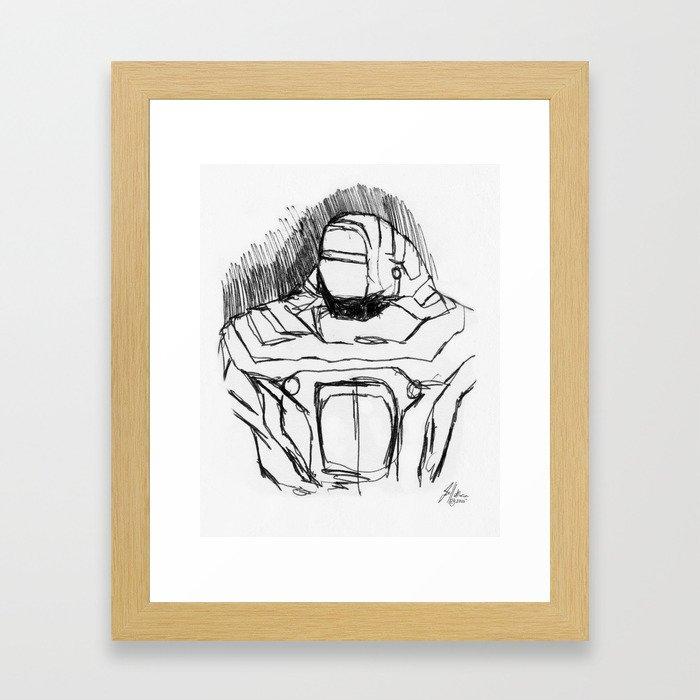Warbot Sketch #056 Framed Art Print