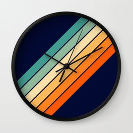 Farida - 70s Vintage Style Retro Stripes Wall Clock