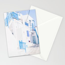 512. Shades of Blue, Mykonos, Greece Stationery Cards