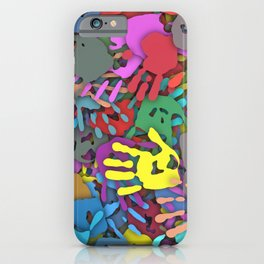 Color handprints iPhone Case
