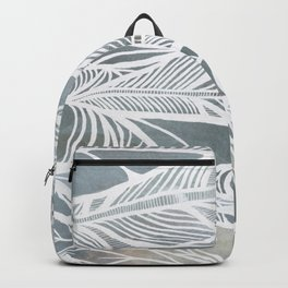 Muted Grey Feathers Backpack