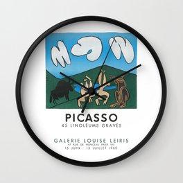 Pablo Picasso 45 Linoleums Graves 1960 T Shirt, Artwork For Posters, Prints, Tshirts, Men, Women, Ki Wall Clock