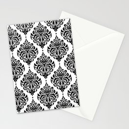 Black and White Damask Stationery Cards